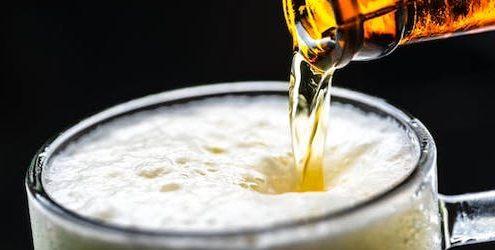 mousse de la bière